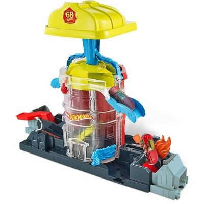 Hot Wheels City Super Fire House Rescue Playset