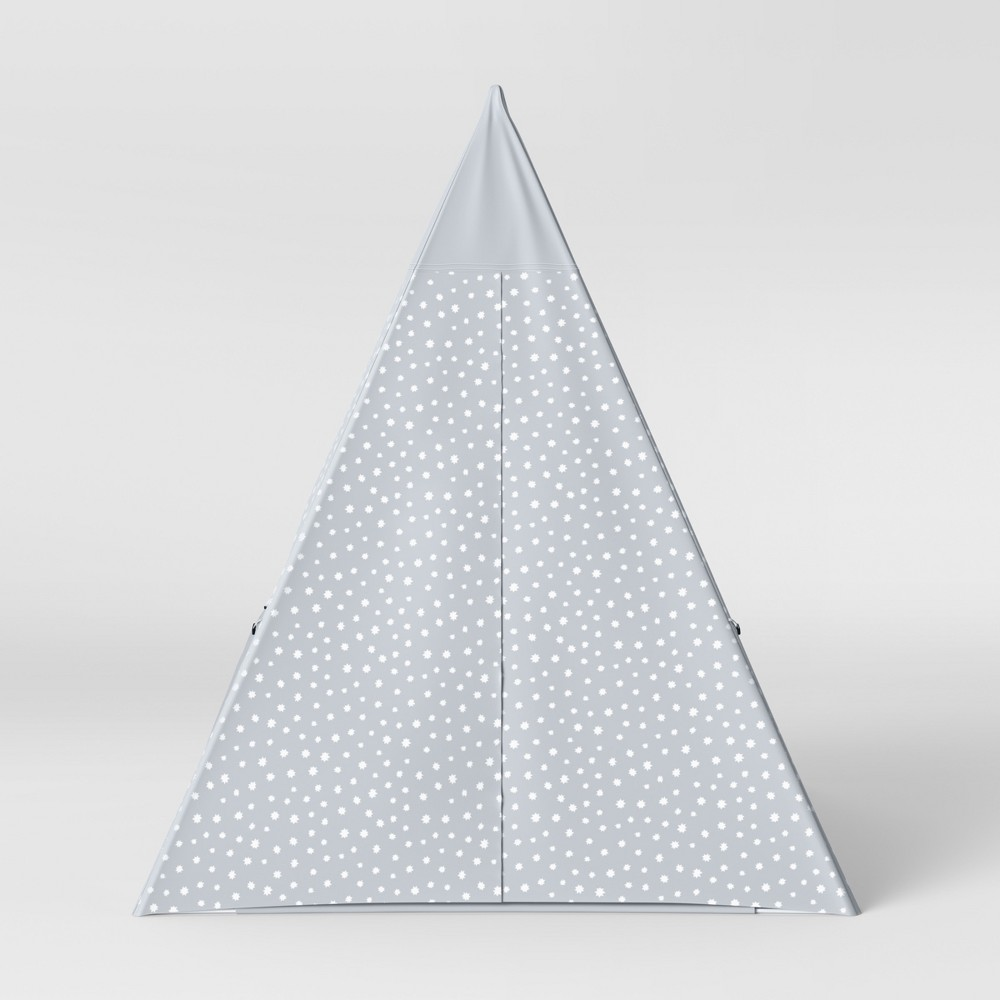 Image of Kids Teepee Stars Gray - Pillowfort