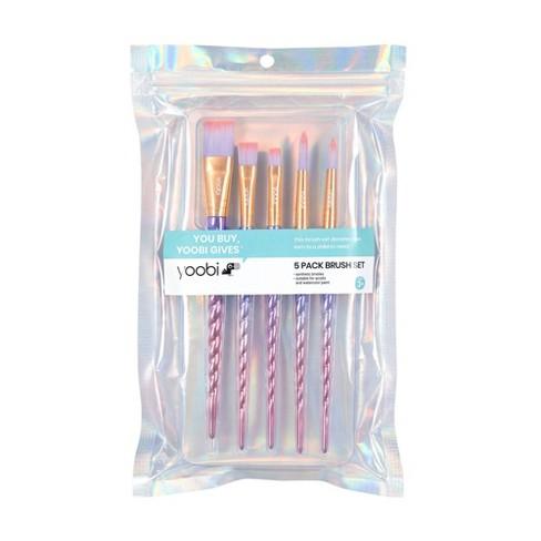 5pk Novelty Paint Brush Set Unicorn Twist - Yoobi™ - image 1 of 3