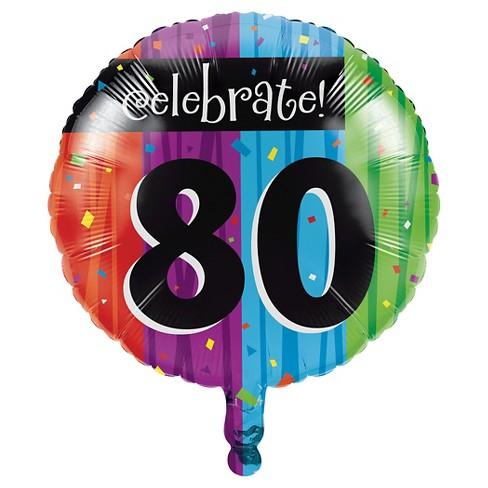 Milestone Celebrations 80th Birthday Mylar Balloon Target