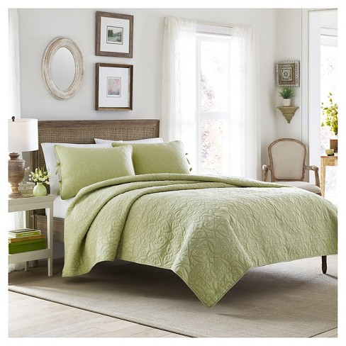 Felicity Quilt And Sham Set Full/Queen Light Green - Laura Ashley™ - image 1 of 1
