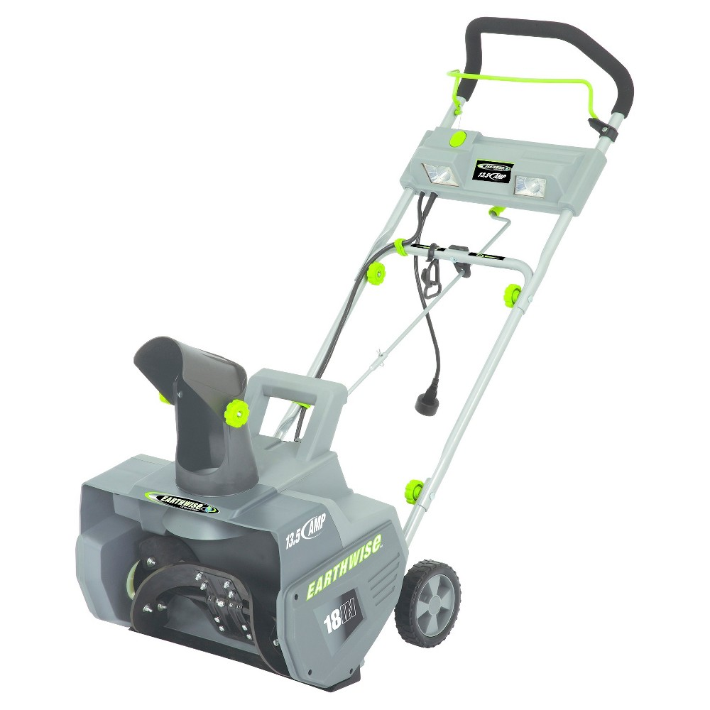"Image of ""18"""" 13.5 Amp, 120 Volts And 1053 Watts Corded Snow Thrower - Gray - Earthwise"""