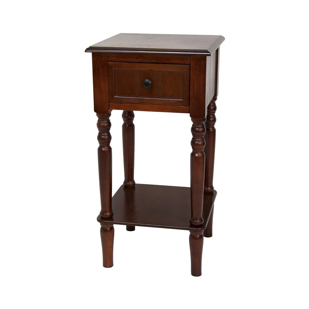 Oriental Furniture 28 Classic Design Square Accent Table Cherry (Red)