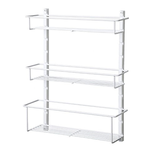 ClosetMaid Adjustable 3 Shelf Spice Rack Organizer Kitchen Pantry Storage for Cabinet Door or Wall Mount with Metal Shelves, White - image 1 of 4