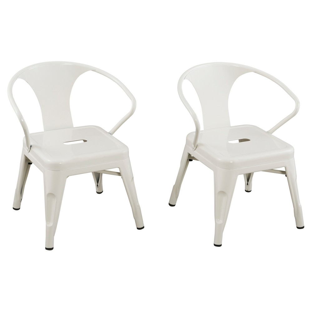 Super Metal Kids Chair Set Of 2 White Reservation Seating White Unemploymentrelief Wooden Chair Designs For Living Room Unemploymentrelieforg