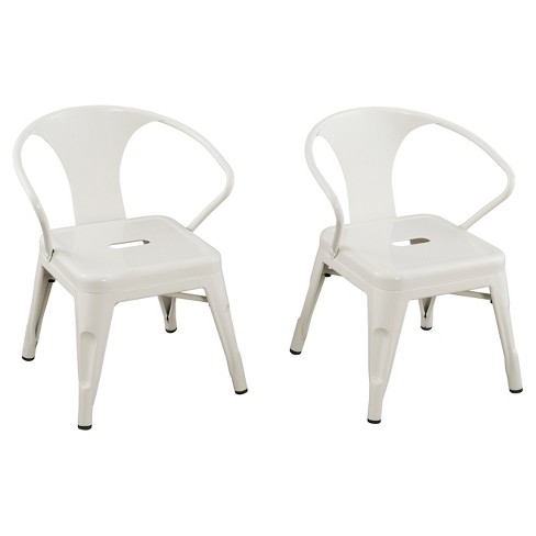 Phenomenal Metal Kids Chair Set Of 2 White Reservation Seating Gmtry Best Dining Table And Chair Ideas Images Gmtryco