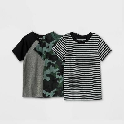 Toddler Boys' 3pk Crew Neck Short Sleeve T-Shirt - Cat & Jack™ Gray
