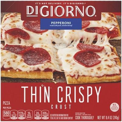 DiGiorno Thin Crispy Crust Pepperoni Frozen Pizza - 8.4oz