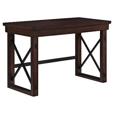 Hathaway Wood Veneer Desk Espresso - Room & Joy