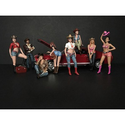 """""""The Western Style"""" 8 piece Figurine Set for 1/24 Scale Models by American Diorama"""
