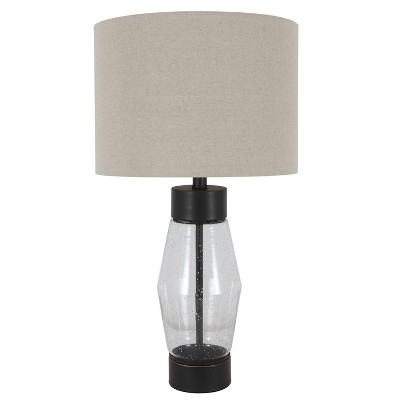 "26.25"" Glass and Metal Cadance Convex Table Lamp (Includes LED Light Bulb)Bronze - Decor Therapy"