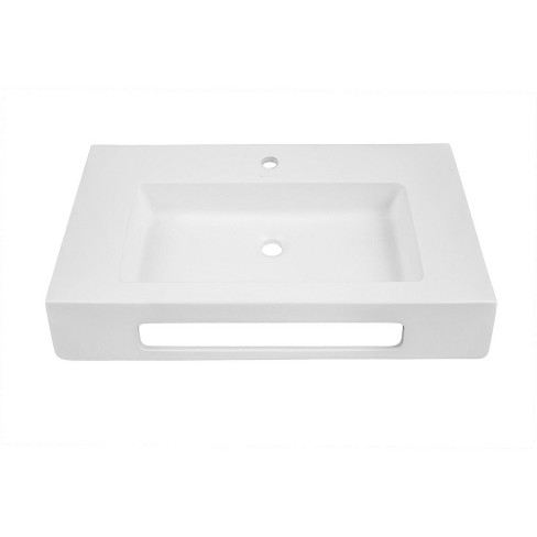 "DecoLav 1835-SSA Ellie 30"" Wall Mounted Bathroom Sink with Single Drilled Hole - image 1 of 3"