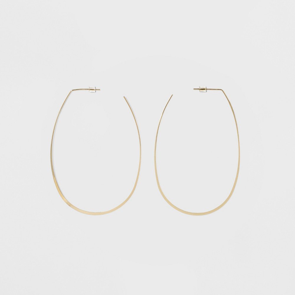 Oval Hoop Earrings - A New Day Gold