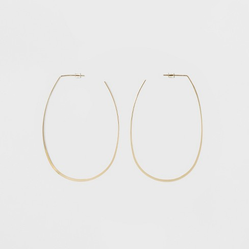 Oval Hoop Earrings - A New Day™ Gold - image 1 of 2