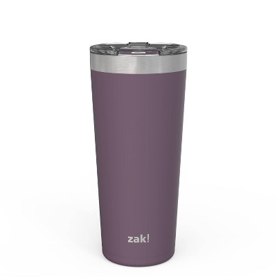 Zak! Designs 20oz Double Wall Stainless Steel Latah Tumbler with Contour Lid