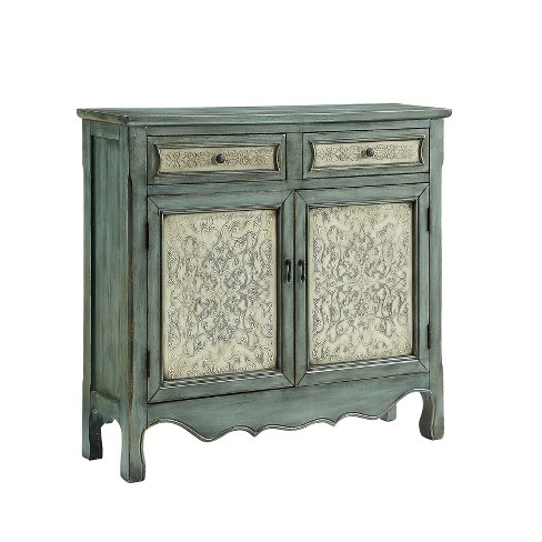Duncan Cabinet Console Table Antique Blue - Powell Company - image 1 of 4