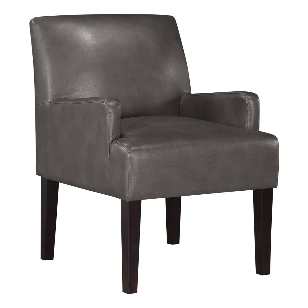 Main Street Guest Chair Pewter Faux Leather - OSP Home Furnishings Main Street Guest Chair Pewter Faux Leather - OSP Home Furnishings Pattern: Solid.
