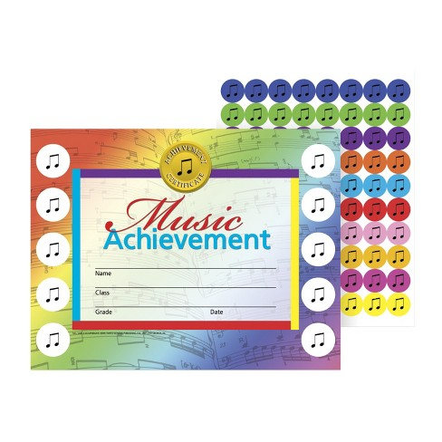 Hayes Music Achievement Stick-To-It Award Certificate, 11 x 8-1/2  inches - image 1 of 1