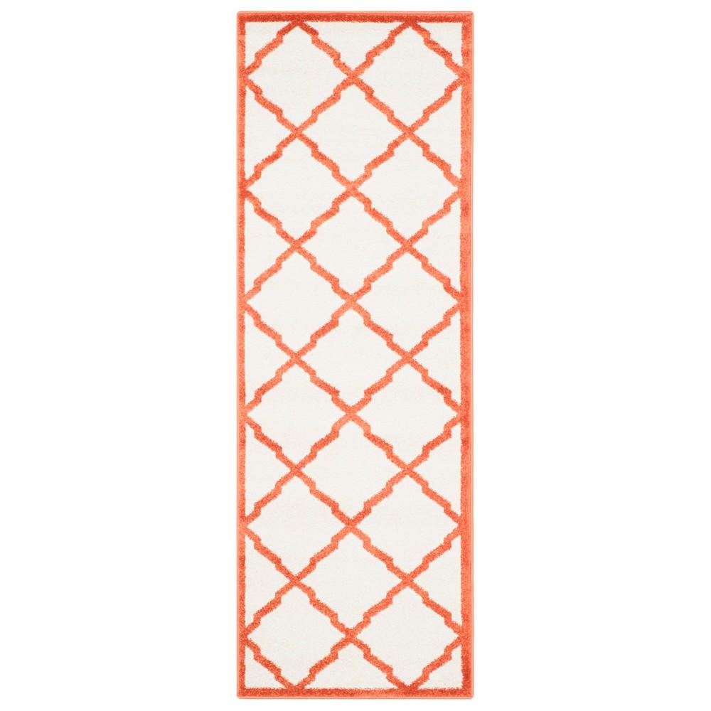 2'3 x 9' Outdoor Runner Beige/Orange - Safavieh