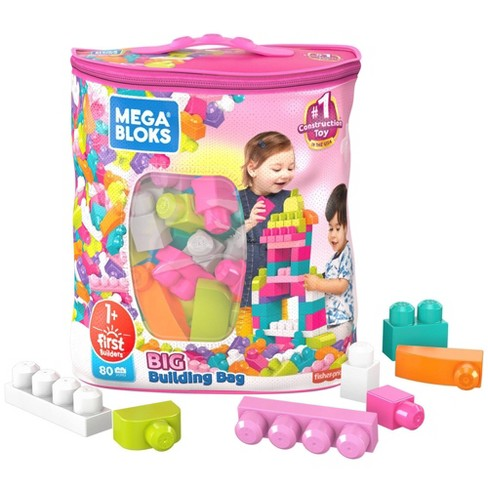 Mega Bloks First Builders Big Building Bag Construction Set - Pink - image 1 of 4