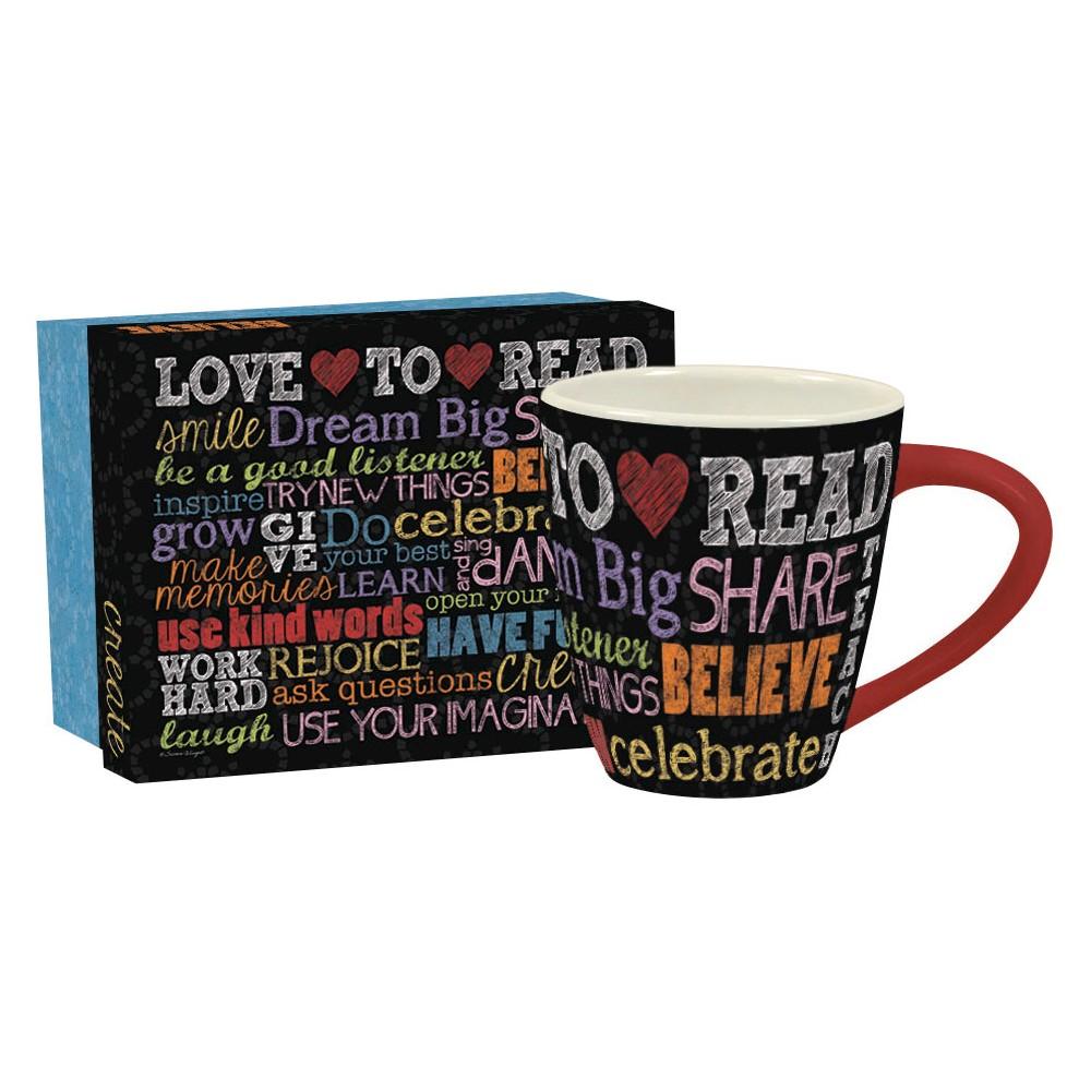 Lang Ceramic Dream Big Café Mug 17 oz, Multi-Colored