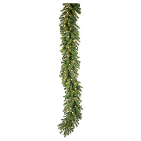 9' Douglas Fir Swag Garland With LED Lights - Green - image 1 of 1
