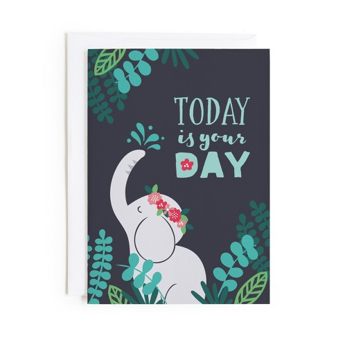 Minted Elephant Birthday Card Target
