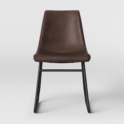 Bowden Faux Leather And Metal Dining Chair   Project 62™