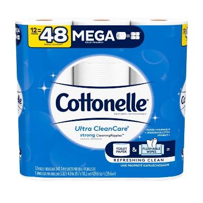 Cottonelle Clean Care Toilet Paper - 12 Mega Rolls