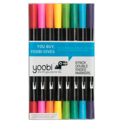 Double Ended Brush Tip Markers, 8ct - Yoobi™