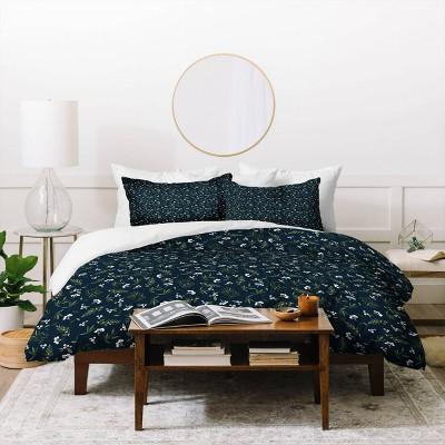Nordic Olive Blue Duvet Set - Deny Designs