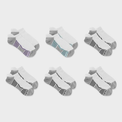 Fruit of the Loom Women's Breathable Cotton Lightweight 6pk No Show Tab Athletic Socks 4-10