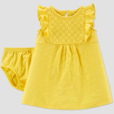 Baby Girls' Eyelet Dress - Just One You® made by carter's Yellow