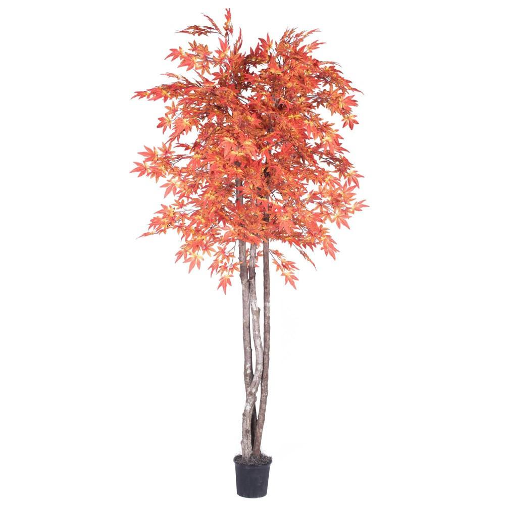 Artificial Maple Plant 6ft Orange Vickerman