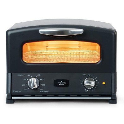 Sengoku SET-G16A(K) HeatMate Graphite Instant Heat Compact Countertop Toaster Oven with 4 Non-Stick Pans for Toasting and Baking, 120 Volt, Black