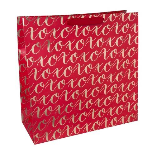 "Jumbo Square ""XOXO"" Gift bag Red - Spritz™ - image 1 of 1"