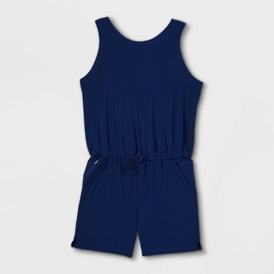 Girls' Stretch Woven Romper - All in Motion™