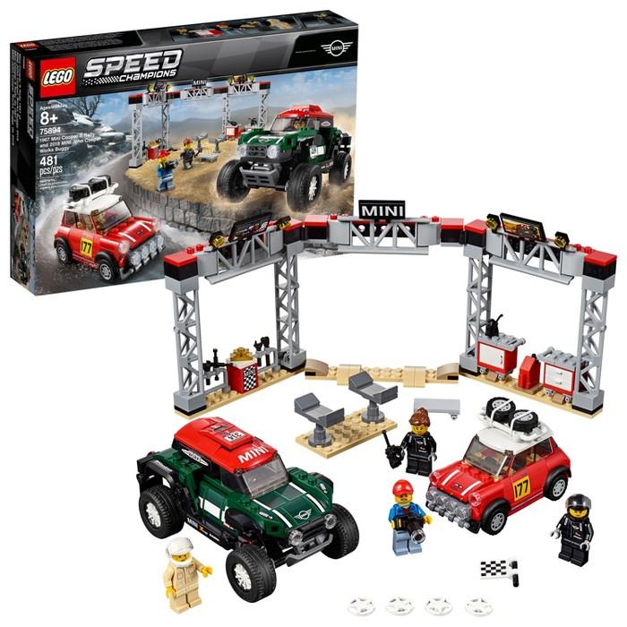LEGO Speed Champions 1967 Mini Cooper S Rally and 2018 MINI J 75894 - image 1 of 5