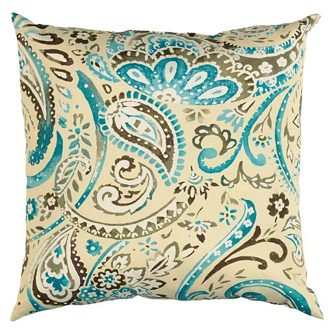 Indoor/Outdoor Throw Pillow Paisley Motif - Rizzy Home - image 1 of 1