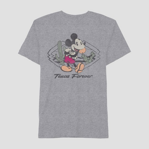 60c30fe97c Men's Mickey Mouse Short Sleeve Texas Graphic T-Shirt Heather Gray