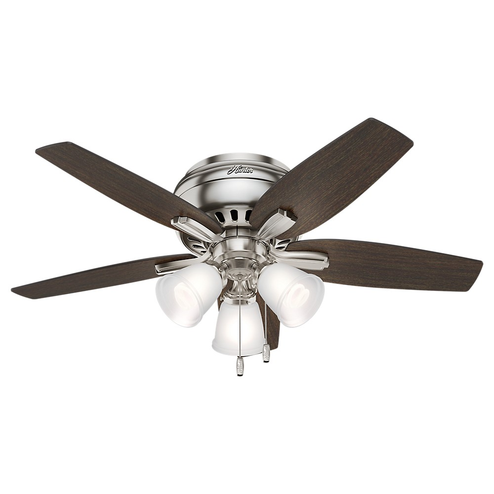 "Image of ""42"""" Lighted Ceiling Fan Brushed Nickel - Hunter Fan"""