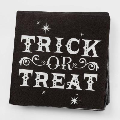 "30ct ""Trick or Treat"" Disposable Halloween Beverage Napkins - Hyde & EEK! Boutique™"