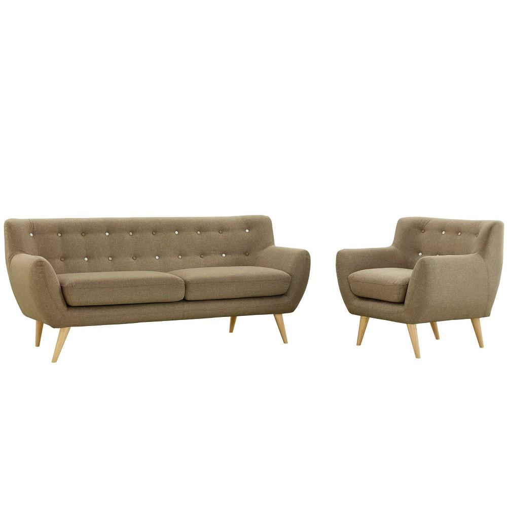 Remark 2pc Living Room Set Brown - Modway