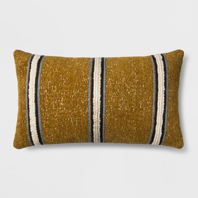 Woven Stripe Oversized Lumbar Throw Pillow Gold - Threshold™