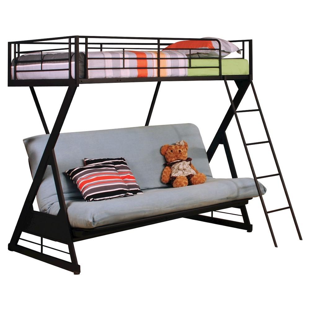 Zazie Kids Futon Bunk Bed - Sandy Black(Twin/Full) - Acme