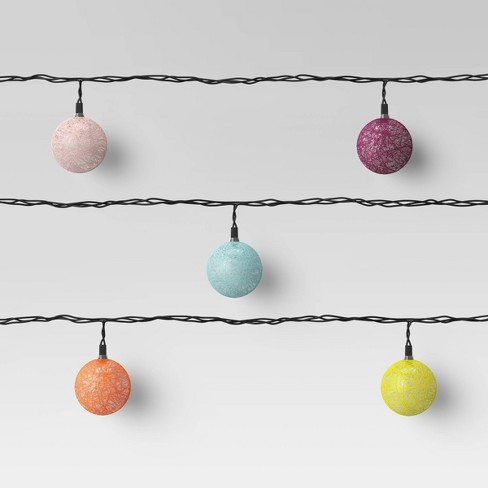 Colored String Orb Lights