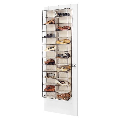 Whitmor Over The Door Shoe Shelves - Brown