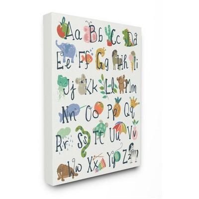 Stupell Industries Kids' Safari Animal Alphabet Colorful Illustrations