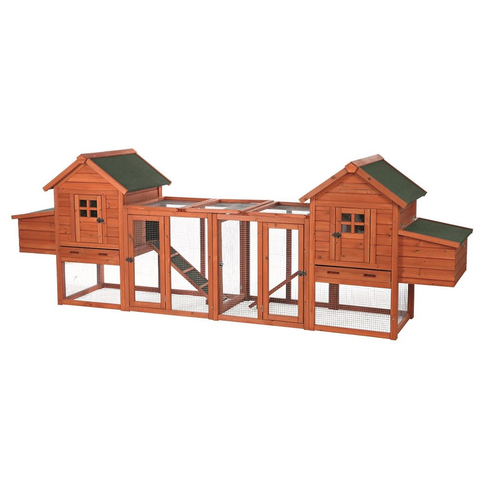 Tixie Pet Chicken Coop Duplex - Brown