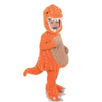 Underwraps Costume Belly Babies T-Rex Orange Dinosaur Plush Child Toddler Costume